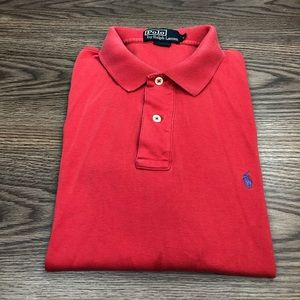 Polo Ralph Lauren Solid Red Polo Shirt L